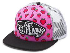 Vans Off The Wall Women's Beach Girl Trucker Hat Cap - Pink Strawberries