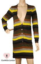ConMiGo 206 Striped Multi colour Long Cardigan Dress