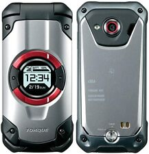 KYOCERA KYF33 TORQUE X01 WIFI TOUGH RUGGED ANDROID FLIP PHONE Silver Unlocked