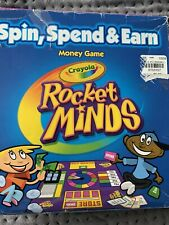 Crayola Money Game Rocket Minds Spin Spend Earn Board Game Kids Finance Learning