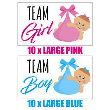 BABY SHOWER GAMES Gender reveal party, 10 x Team Girl 10 x Team Boy Stickers 137
