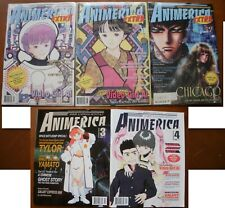 5 ANIMERICA Anime Art Comic Magazine-MONTHLY #3 4 +EXTRA Vol 3 #7 #11 + Vol 5 #7