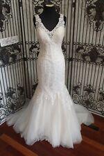 1207W MAGGIE SOTTERO SZ 12  7MN318 CHARDONNAY $1397 IV WEDDING GOWN DRESS