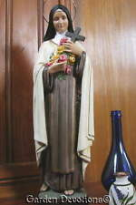 "20"" ST. THERESA THE LITTLE FLOWER STATUE Plaster / Chalkware **IMPORTED**"