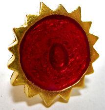 SoHo® Ring Sonne gold Kunstharz retro resin kaltemail rot rotgold verstellbar