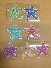 "Anti Slip Tread Decal Sticker Tape Tub Bathtub Shower Star Fish Kid Baby 4"" 8 pk"