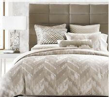 HOTEL COLLECTION, DISTRESSED CHEVRON FULL/QUEEN DUVET COVER MSRP $335