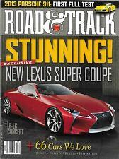 Road And Track Magazine Lexus Super Coupe Porsche 911 LF LC Concept Car 2012