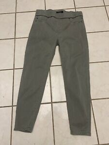 LIVERPOOL JEANS CO. NEW! Khaki Green Brushed Cotton Jegging Jeans 12/31 Petite