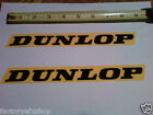 2 Factory Dunlop Tire Yellow Decals Sticker Graphics Swingarm Decal Race Bike