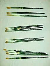 14 VINTAGE GRUMBACHER BEAUX ARTS  ARTIST PAINT BRUSHES  RED SABLE USA & IRELAND
