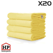 20 X Professional Washable Microfibre Cloths Extra-Large Super Thickness Yellow