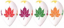 "Autumn Leaves Balloon Chesnut Print Bright Colours 30cm-12"" 10pcs Per Pack"