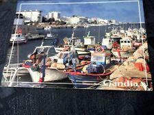 GLOSS POSTCARD GANDIA VALENCIA HARBOUR PHOTO GUALFIMA ESCUDO #16 UNPOSTED