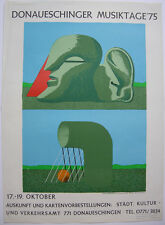 Horst Antes Plakat Donaueschinger Musiktage Orig Folienlithografie 1975