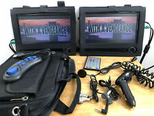 "Portable DVD Player Battery Mains Car Headrest Meos-DVD92B Dual 8.75"" Screen USB"