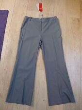 BNWT Pure Collection smart fine 96% wool soft unlined bootcut grey trouser 8L