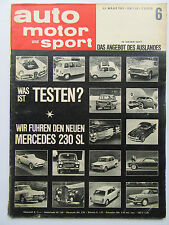 Auto Motor Sport 6/1963, Autos aus dem Ausland