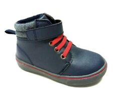 NEW Garanimals Toddler Boys Faux Navy Blue Leather Lace Up Ankle Boots Sz 4 5 6