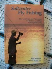 Saltwater Fly Fishing (Jack Samson, 1991 1st Edition Hcdj)