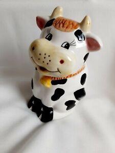 Houson Harvest Holstein Cow Sugar Porcelain Bowl Dish Country Farm