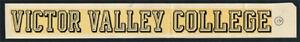 Victor Valley College _RARE ORIGINAL_ 1960's Decal vtg California Community Rams