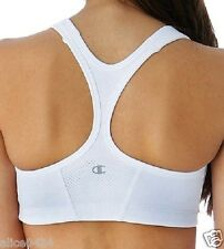 Champion Women's Shape Vented Racerback Sports Bra 1622 White 34B