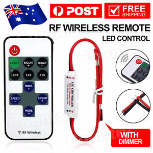12V RF Wireless Remote Switch Controller Dimmer for Mini LED Strip Light EA
