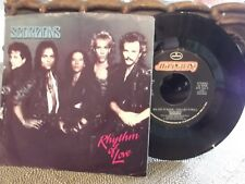 H3 PIC SLEEVE*SCORPIONS WE LET IT ROCK U LET IT ROLL/RHYTHM OF LOVE  RECORDS