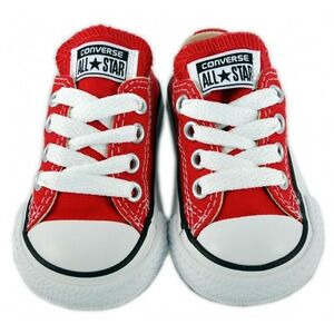 New Unisex Converse - All Star Low Top For Infants - Red (7J236C) All Size