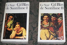 LOT of Le SAGE'S GIL BLAS de SANTILLANE volumes I and II in FRENCH
