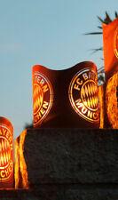 FCB FC Bayern Windlicht Fanartikel Feuerkorb Deko Metall Rost Edel Gartendeko
