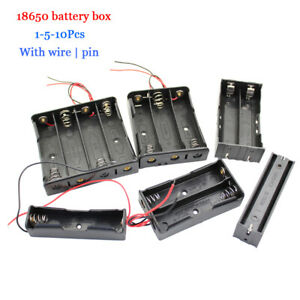 1/5/10Pcs 18650 DIY Battery box HOLDER Case Rechargeable Wire Lead 1 to 4 knots