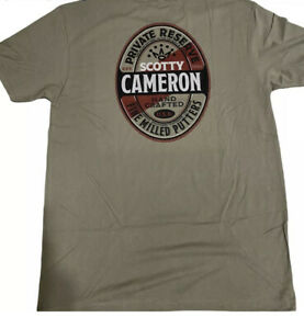 New SCOTTY CAMERON GALLERY CIRCLE T Private Reserve Tee Shirt size L Green Golf