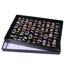 für 100Ring Schmuck Display Aufbewahrungsbox Tray Organizer Ohrringe Ausstellung