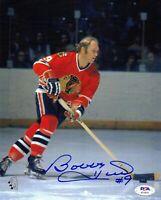 Bobby Hull autographed signed 8x10 photo NHL Chicago Blackhawks PSA COA