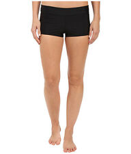 SPEEDO WOMEN'S SOLID BOYSHORTS SWIM TRAINING BIKINI BOTTOMS BLACK MEDIUM NEW $44