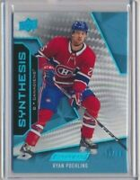 2019-20 UD Engrained Synthesis BLUE 45 Ryan Poehling /50 Montreal Canadiens