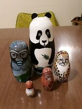 5-Piece Nesting Doll Endangered species