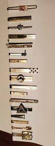 LOT of 17 Vintage Tie Bars or Clips