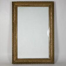 R504 ANTICA CORNICE IN LEGNO PASTIGLIA DORATO DORATA + VETRO interno 33 x 21 cm