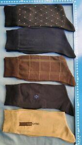 MEN'S SMOOTH TOE MERCERIZED FINE COTTON Push Puppies Dress Socks 7-11 most navy