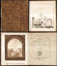 Lepsius saxe rudelsburg château saaleck plan vues 1824