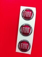 3 Adesivi Resinato Sticker 3D FIAT 15 mm 2007 > 2013