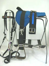 MINI HORSE / SM PONY BAREBACK SADDLE NATIVE STAR SET  BLUE