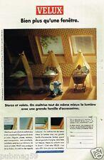 Publicité advertising 1993 Stores et volets Velux