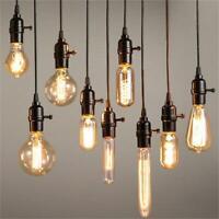 40W Vintage Filament DEL Edison Ampoule E27 décoratif Industrial Light Bon état