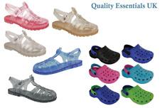Kids Girls Childrens Summer Beach Shes Sandals Flip Flops Glitter Jelly Shoes