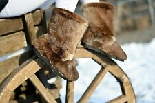 Otter Fur Boots for Women, Winter Snow Boots, Moutons, Mukluks, Handmade, LITVIN