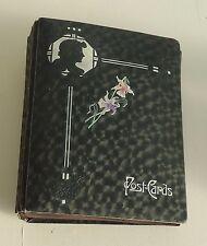 Victorian Post Card Album w Silhouette Design * Empty